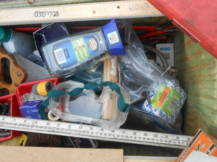 Half Stillage of Tools etc etc there are some tins of paint included look at the photos buyer clears - Image 3 of 25