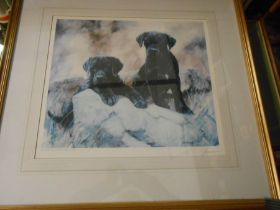 JOHN TRICKETT Limited Edition Dog Print no 280 of 850 18 x 15 inches. signature in margin