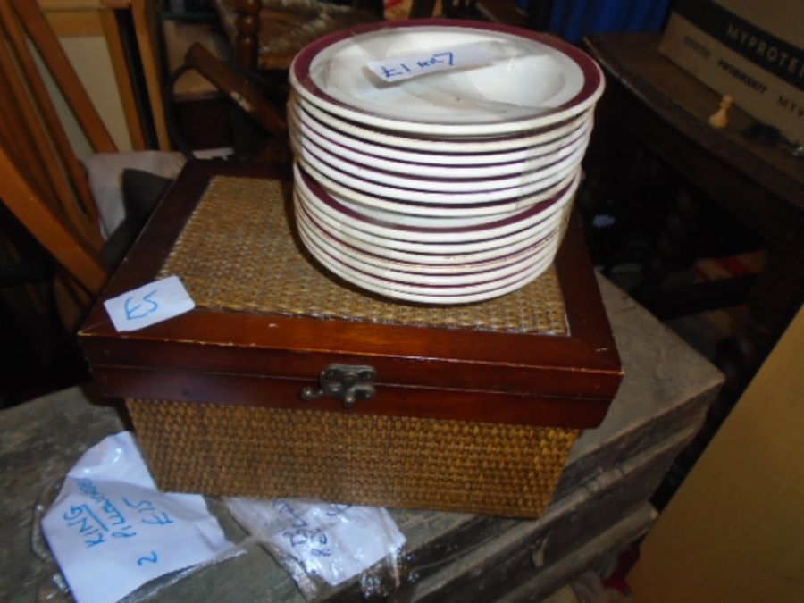Stillage of ex hotel items to include waste bins, catering items, light fittings, games etc etc - Image 14 of 16