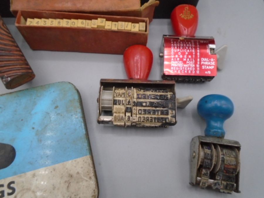 vintage Hand printing items and lino cutting tool - Image 2 of 6