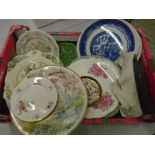 Box of china plates