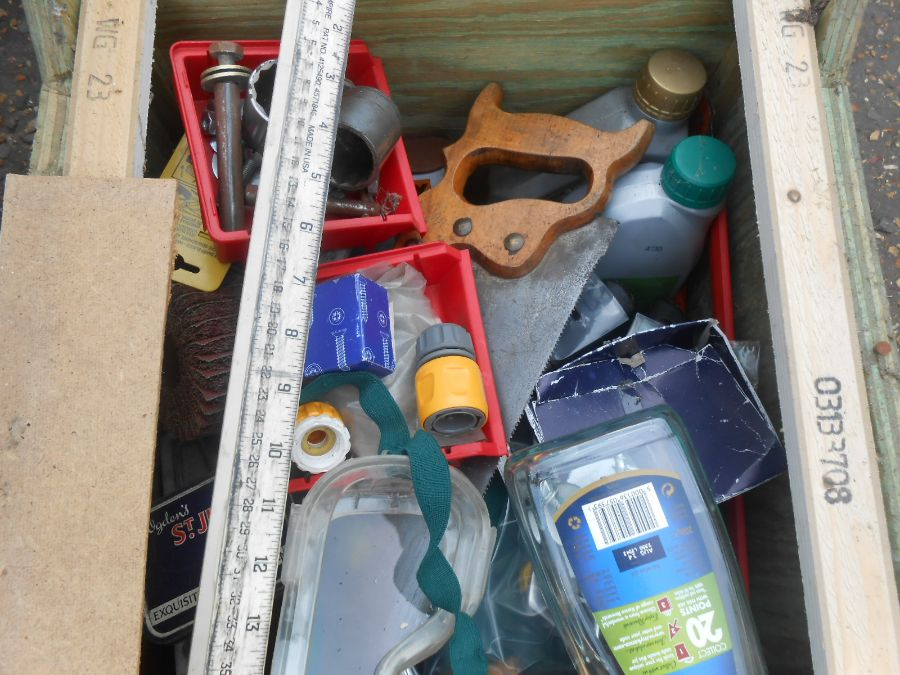 Half Stillage of Tools etc etc there are some tins of paint included look at the photos buyer clears - Image 4 of 25