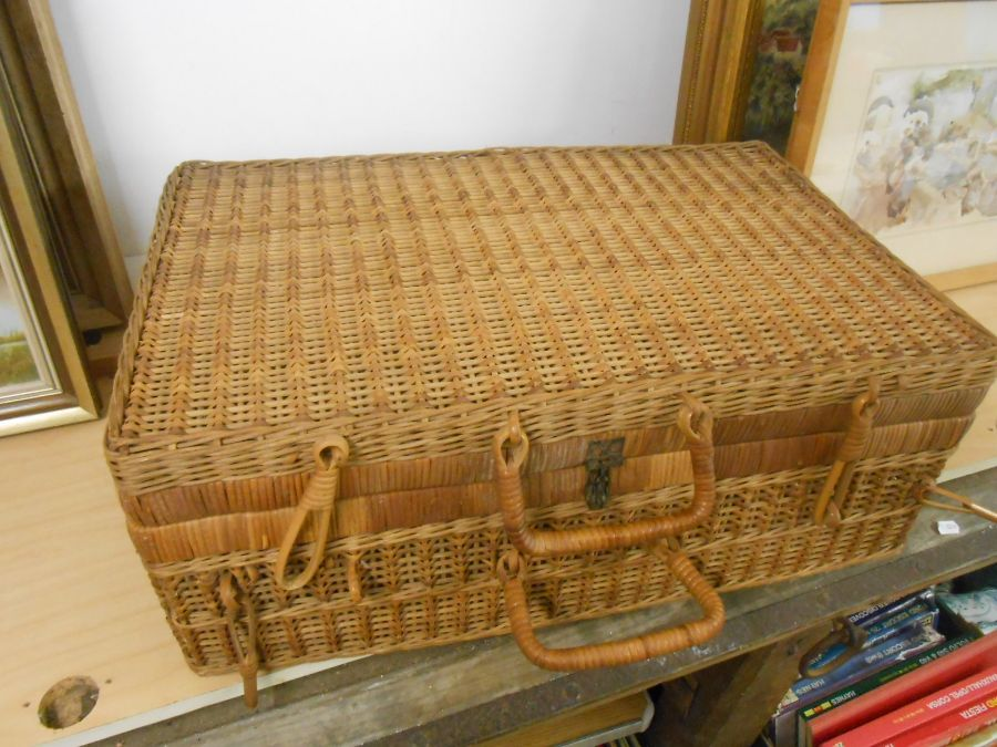 Wicker Picnic Basket and Bag