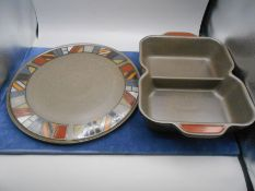 Denby Marrakesh Pasta Dish 27 x 22 cm 6 cm tall and Pizza Plate 32 cm