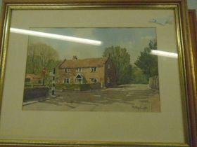 David P Housden pencil sketches of Denver sluice, Dever Mill and Ely Cathederal, plus 2
