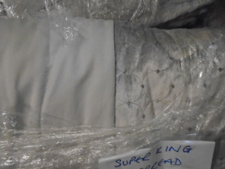 Half a Stillage of Laundered Bed Linen from local hotel single up to king size sheets , pillow cases - Image 12 of 19