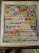 Vintage Sampler J P Roy aged 12 years 11 x 12 inches