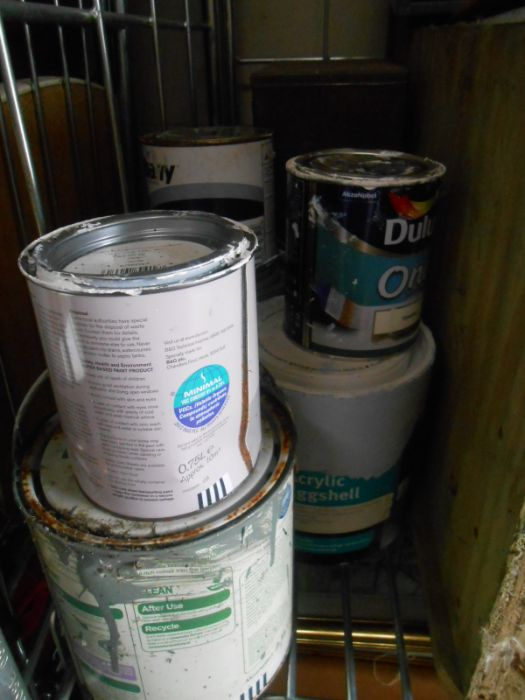 Half Stillage of Tools etc etc there are some tins of paint included look at the photos buyer clears - Image 10 of 25