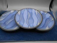 8 Denby Marble Pattern Plates 23 cm