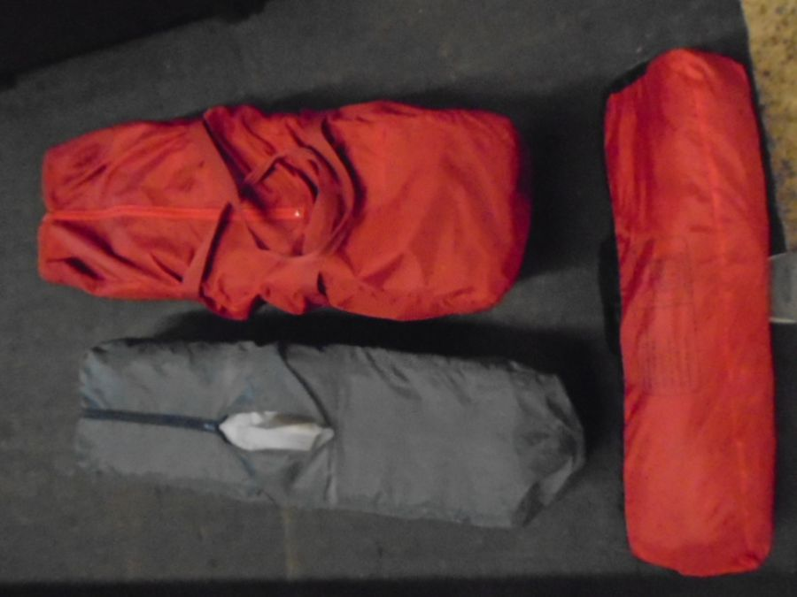 Half Stillage of miscellaneous to include 2 carry cots, 4 man dome tent, curtain tie backs, bench - Image 3 of 8