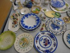China collection to include Goebel Royal Douton, spode, Charmouth teddy bear figures, pot lids,