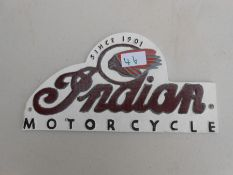 Indian motorcycle plaque