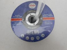 """50 x 4-1/2 """" stainless angle grinder zip discs"""