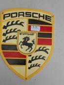Porsche wall plaque