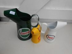 3 decorative funnel cans 28cms