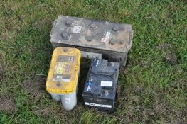 Quantity of tractor and used batteries