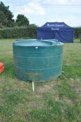 Large plastic water tank