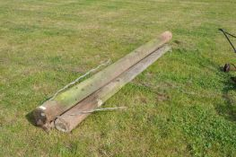 Quantity of ex-telegraph poles of various lengths some full length approximately 35-40 in total to