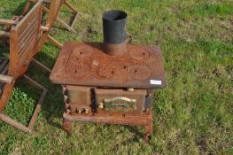 vintage Cast iron cooking stove