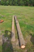 2 No. Telegraph poles