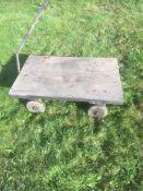 four wheeled workshop trolley