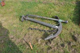 A large ornamental anchor
