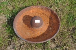 Cast iron pig ring feeder (Mexican hat)