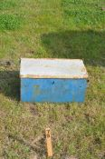 A vintage tractor weight box to fit a Ford tractor