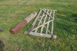 10ft oak five-bar gate with post
