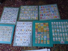 Cigarette cards on mounts and others