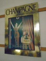 Yves saint Laurent Champagne perfume advertising print/ board 80x58cm
