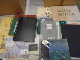 Artist pads, sketch books, watercolour paper, pastel paper etc