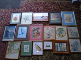 Quantity of prints and watercolours etc