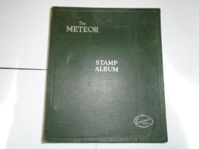The Meteor Stamp album - contains approx.90 pages of 20th C stamps from around the world (a few 19th