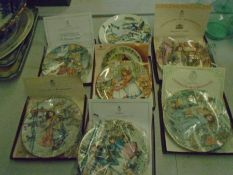 Royal Worcester picture plate, boxed with certificates plus one Wedgwood 'skating on the fen'