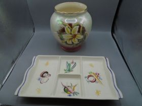 Royal Winton grimwades vase with lustre finish and Hors' devours dish