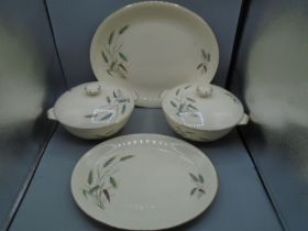 Alfred Meakin oval platters and 2 terrines