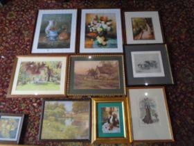 quantity of framed prints
