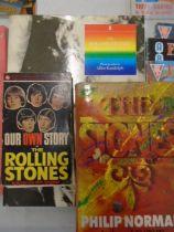 Rolling Stones books, music memorabillia books and 60s film review mags