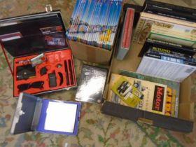 Disney books, car books and others plus spy set and star trek dvd set