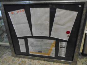 Downham Market Castle hotel conveyency documents in frame