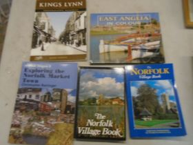 collection of books about Norfolk and Kings Lynn