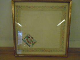 Royal Artillery framed hankie