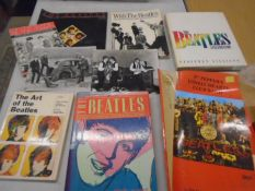 Beatles memorabilia, 2 photo's and a collection of books