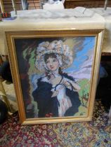 Tapestry of a lady 74cm x 60cm