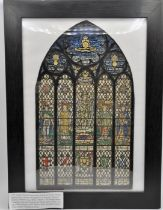 T.W. Camm Stained glass Art studios, Smethwick, pencil & watercolour design commissioned for Royal