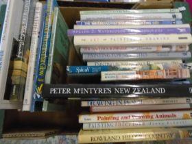 Art books, box of