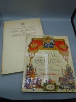 Picture Books (2) Shell-Mex and BP Limited Royal Progress 1953 and George VI coronation book