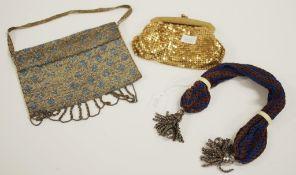 Two antique ladies evening bags