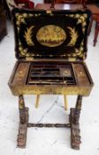 19th century chinoiserie work table